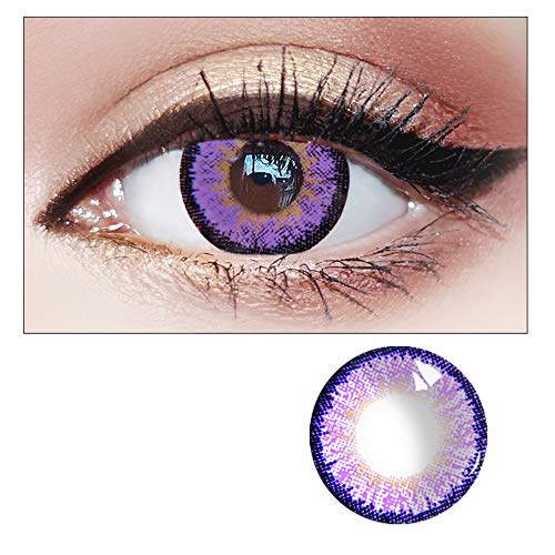 WQFXYZ Women Multi-Color Contact Lenses Cosplay Eyes Cute Charm and Attractive Fashion Eye Accessories Cosmetic Makeup Eye Shadow (20)