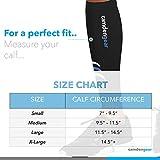 Calf Compression Sleeve by Camden Gear - Helps Shin Splints. Leg Socks for Men and Women