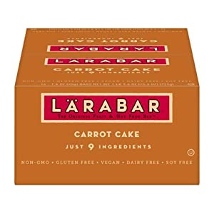 Gluten Free Bar, Carrot Cake, 1.6 oz Bars (16 Count), Whole Food Gluten Free Bars, Dairy Free Snacks (Limited Edition)