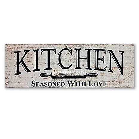 Amazon.com: myVintageFinds – Señal de cocina rústica para ...