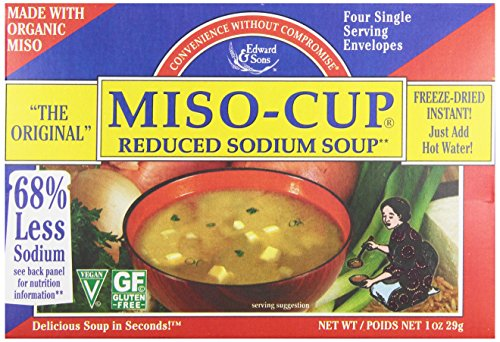Edward & Sons Organic Reduced Sodium Miso Cup Instant Soup, 1 oz