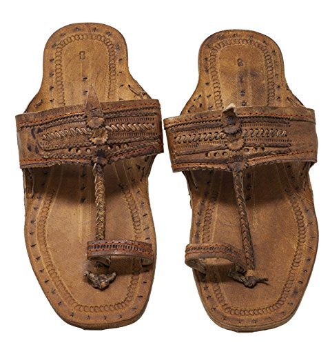 Funny Guy Mugs Unisex Hippie Indian Water Buffalo Jesus Sandals (Men's 8 / Women's 10) Brown