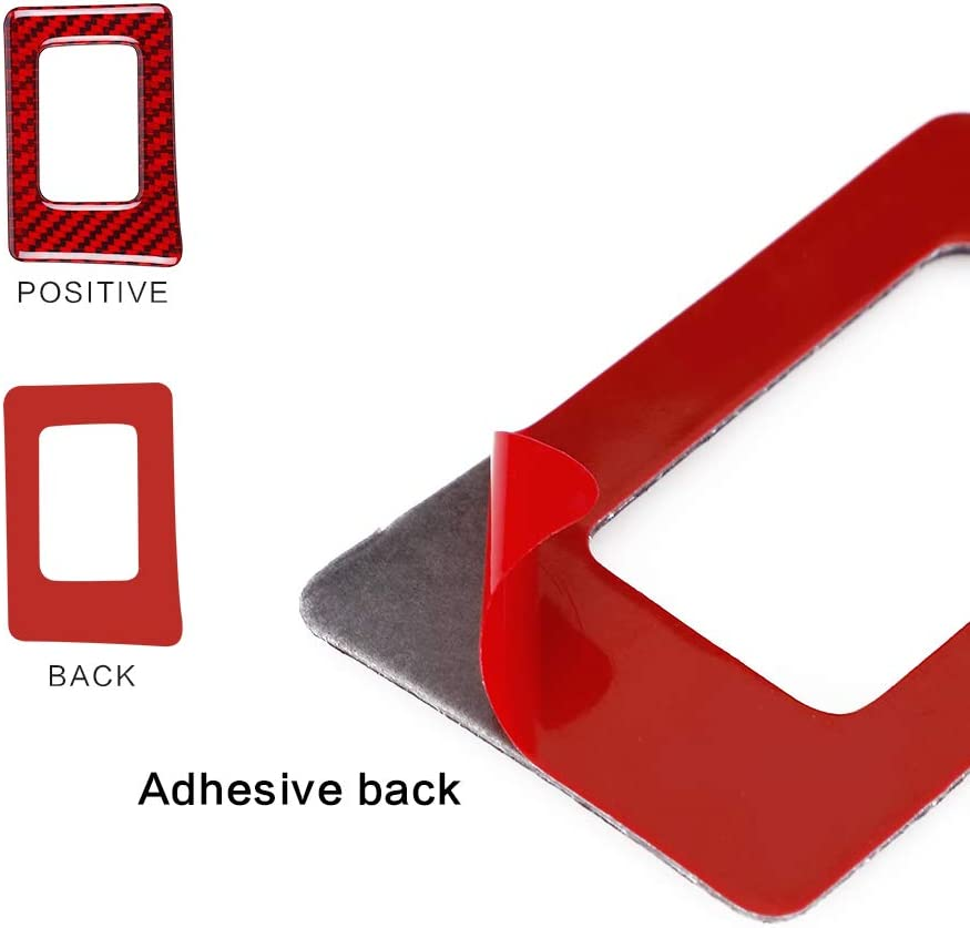 1Pc Red MICOOS Replacement for Carbon Fiber Hazard Lights Button Frame Cover Dashboard Emergency Flashers Button D/écor for Honda Civic 2016 2017 2018 2019 2020