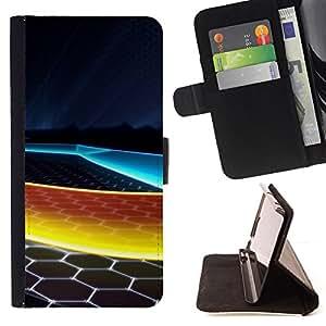 For HTC One M9 - Abstract Honeycomb /Funda de piel cubierta de la carpeta Foilo con cierre magn???¡¯????tico/ - Super Marley Shop -