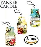 Yankee Candle Car Jar -- Margaritaville Summer Trio - Pineapple Breeze, Jamaican Vacation, Lime and Sea Salt -- Set of THREE Car Jars