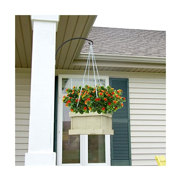 Nahuaa-4PCS-Artificial-Flowers-Fake-Plastic-Plants-Greenery-Bushes-Orange-Daffodils-Bundles-Indoor-Outdoor-Table-Centerpieces-Arrangements-Home-Kitchen-Office-Hanging-Baskets-Spring-Decorations