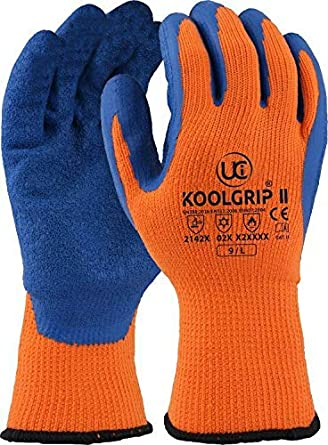 Work Gloves Home & Garden pack Of 5 Scan Thermal Latex Coated Gloves Size 8 Medium