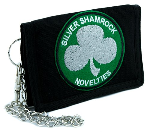 Silver Shamrock Novelties Tri-fold Wallet with Chain Alternative Clothing Halloween III