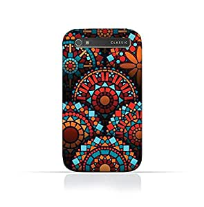 Blackberry Q 20 TPU Silicone Case With Geometrical Madalas Pattern