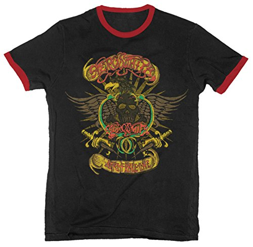 Aerosmith - Aero Force One - Adult Ringer T-Shirt - Medium