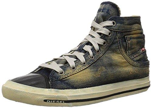 Diesel Exposure I Indigo Negro Denim Hombres Hi Trainers Zapatos
