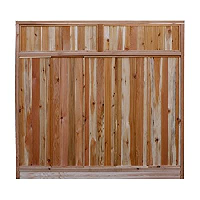 Signature Development 6 ft. H x 6 ft. W Western Red Cedar Solid Lattice Top Fence Panel Kit