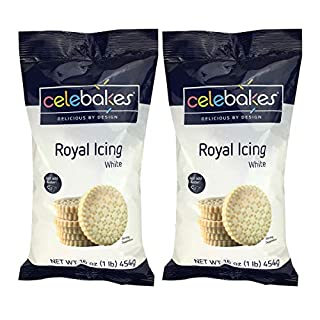 Celebakes By CK Products White Royal Icing Mix, 1lb/2 Pack