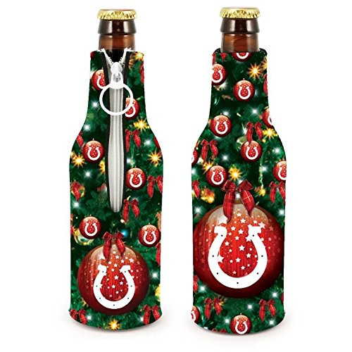 NFL Football 2015 Christmas Ugly Party Bottle Suit Holder Cooler 2-Pack (Indianapolis Colts)