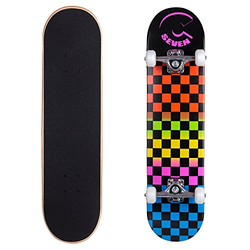 Cal 7 Complete Skateboard, Popsicle Style with 5.25 Inch Trucks & 100A Wheels for Kids & Adults (8
