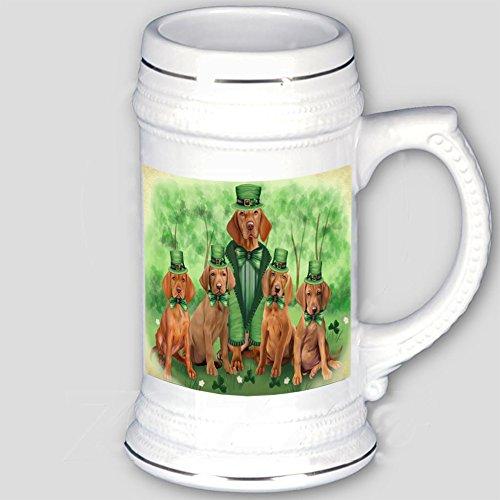 Doggie of the Day St. Patricks Day Irish Family Portrait Vizslas Dog Beer Stein BST481286