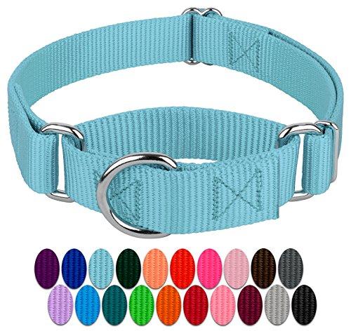 Country Brook Design | Martingale Heavyduty Nylon Dog Collar - Ocean Blue - Extra Large