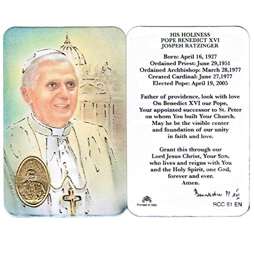 (Pope Benedict XVI, Prayer Card)