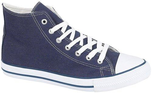 Unknown Academy - Zapatillas de béisbol de lona para hombre - azul marino
