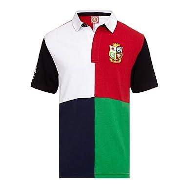 Británico & Irlanda LEONES Harlequin manga corta camiseta de rugby ...