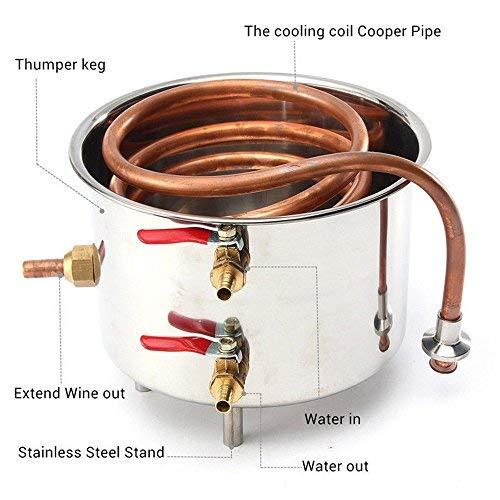 ECO LLC 5Gal Alcohol Distiller Water Distiller Stainless Copper 20L Boiler Home Brew Kit by ECO LLC (Image #1)