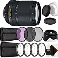 Nikon AF-S DX NIKKOR 18-140mm f/3.5-5.6G ED Vibration Reduction Zoom Lens with Auto Focus for Nikon DSLR Cameras with Ultimate Accessory Bundle