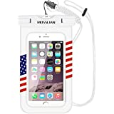 """MOSSLIAN Waterproof Case, Universal Dry Bag Pouch,Transparent Snowproof Dirtproof waterproof for iPhone X,8,7 6s, Samsung Galaxy S7, Cell Phone up to 6. 0"""" with Sensitive TPU Touch Screen."""
