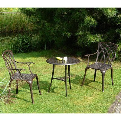 inko gartenm bel aluguss bistro set chester bronze mit arm. Black Bedroom Furniture Sets. Home Design Ideas
