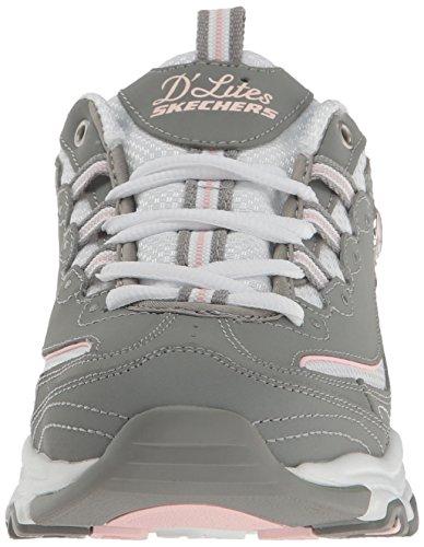 gray Basket D'lites Trim white Time lt Tendance Pour Mesh Gris Trubuck Femme Gyw Skechers Me Pink 8ftdWw