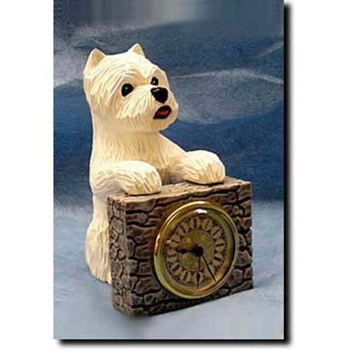 - Michael Park West Highland White Terrier Mantle Clock