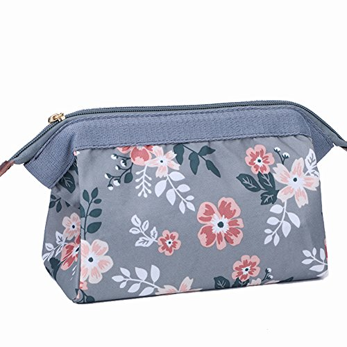 (Makeup Bag/Travel Cosmetic Bags/Brush Pouch Toiletry Kit Fashion Women Jewelry Organizer with YKK Zipper Electronics Accessories Carry Case Pencil Holder Portable Cube Purse (Gray))