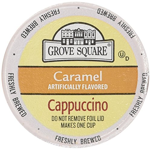 (Grove Square Single Serve Caramel Cappucino Single serve cup 24 Ct for Keurig Brewers)