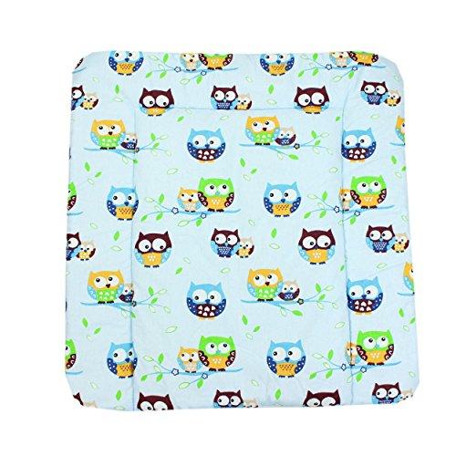 Wickeltischauflage Stoff Wickelauflage mit Baumwollbezug Waschbar Wickelunterlage 70 x 70 cm / 75 x 85 cm , Farbe: Muster 1, Größe: 70 x 70 cm
