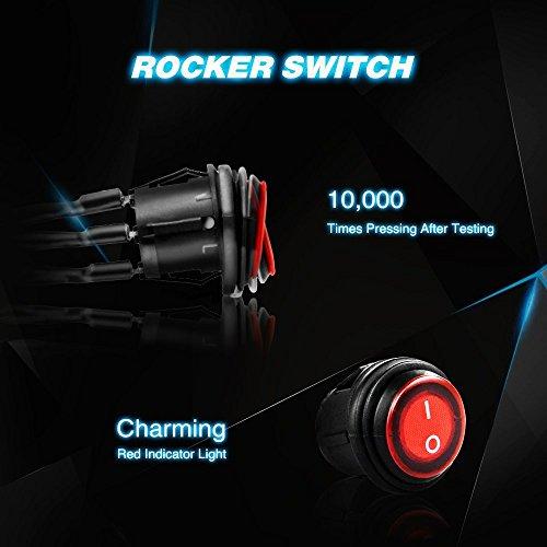 Nilight-126w-LED-Light-bar-with-Wiring-Harness-2-year-warranty