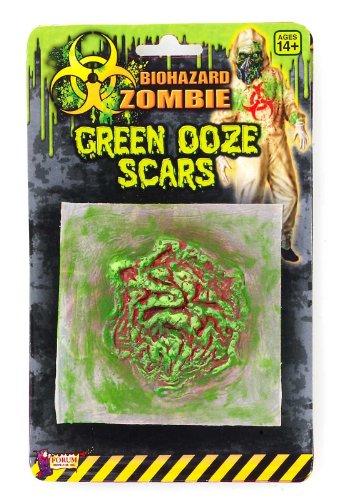 [Biohazard Zombie Green Ooze Scar] (Biohazard Costumes)