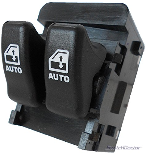 SWITCHDOCTOR Window Master Switch for 1997-1998 Pontiac Trans Sport (Black Buttons)