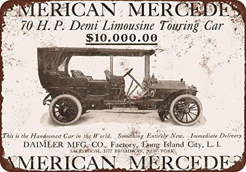 Kilburn 1907 American Mercedes Retro Creative Wall Decoration Personality Trend Background Simple Style Pintura de Hierro