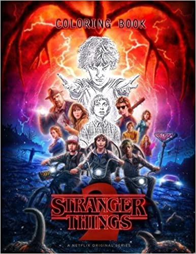 Amazon Fr Stranger Things Coloring Book Sans Media Livres