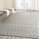 Safavieh Cape Cod Collection CAP415A Hand Woven Geometric Grey and Gold Jute and Cotton Area Rug (10' x 14')