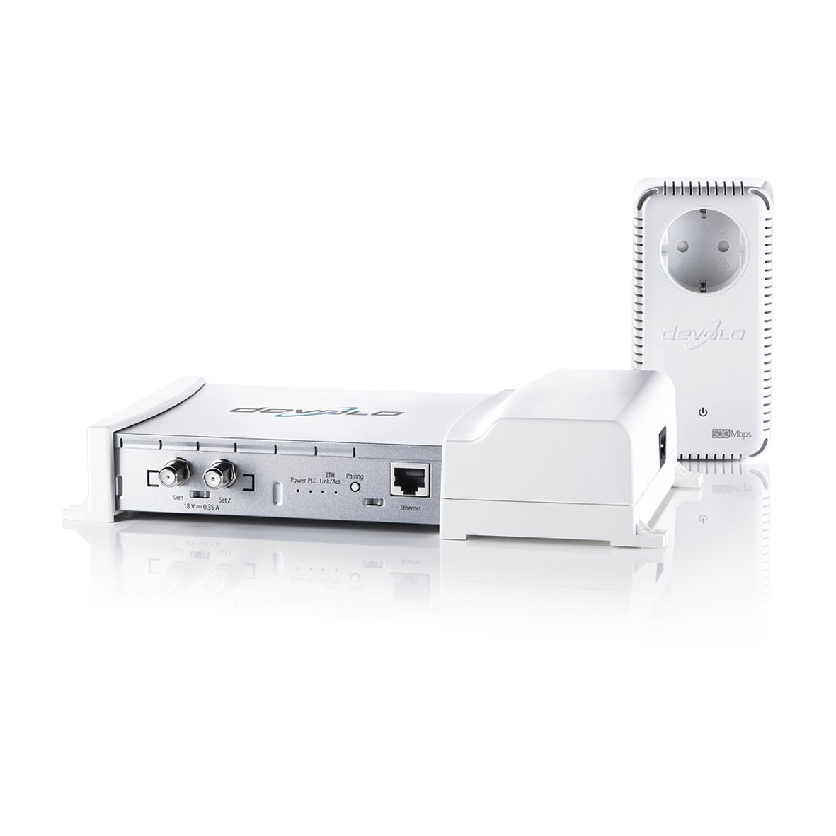 Devolo dLAN TV SAT Multituner Kit weiß: Amazon.de: Elektronik