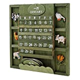 MonkeyJack Vintage Advent Calendar Manual Calendar Countdown Calendar Animal for Gift
