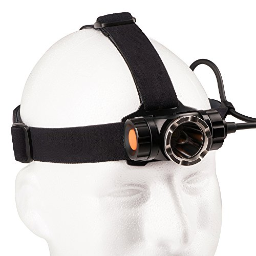 Guard Dog Security 1200 lm Headway Head Lamp, Black Headlamp Guard