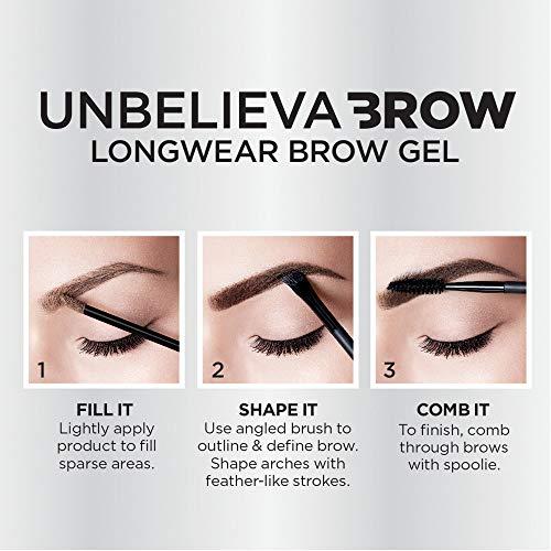 b94beb691224 L'Oreal Paris Unbelieva-Brow Tinted Brow Makeup, Longwear, Waterproof Brow  Gel, Sweat Resistant, Transfer Proof, Fills and Thickens Brows, Enhanced up  to 48 ...