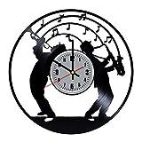 OhohoShop Music Jazz Vinyl Record Wall Clock Best Birthday Vintage...