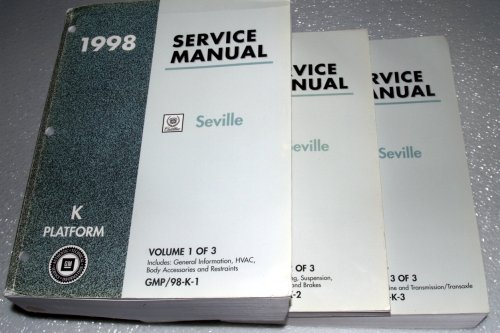 1998 Cadillac Seville Service Manuals (GM K Platform, 3 Volume Set)