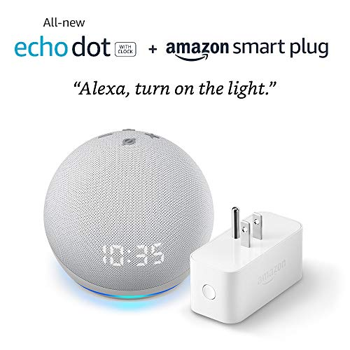 All-new Echo Dot (4th Gen) with clock + Amazon Smart Plug |...