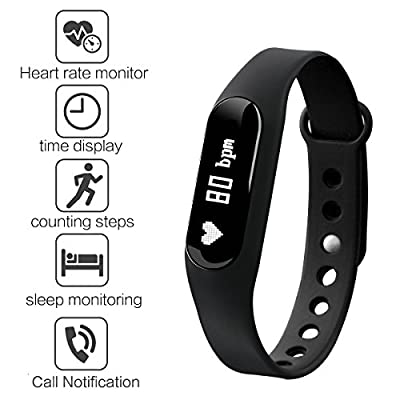 Fitness Tracker Gosund C6 Smart Bracelet with Heart Rate Monitoring and Pedometer Call SMS Reminder from Gosund