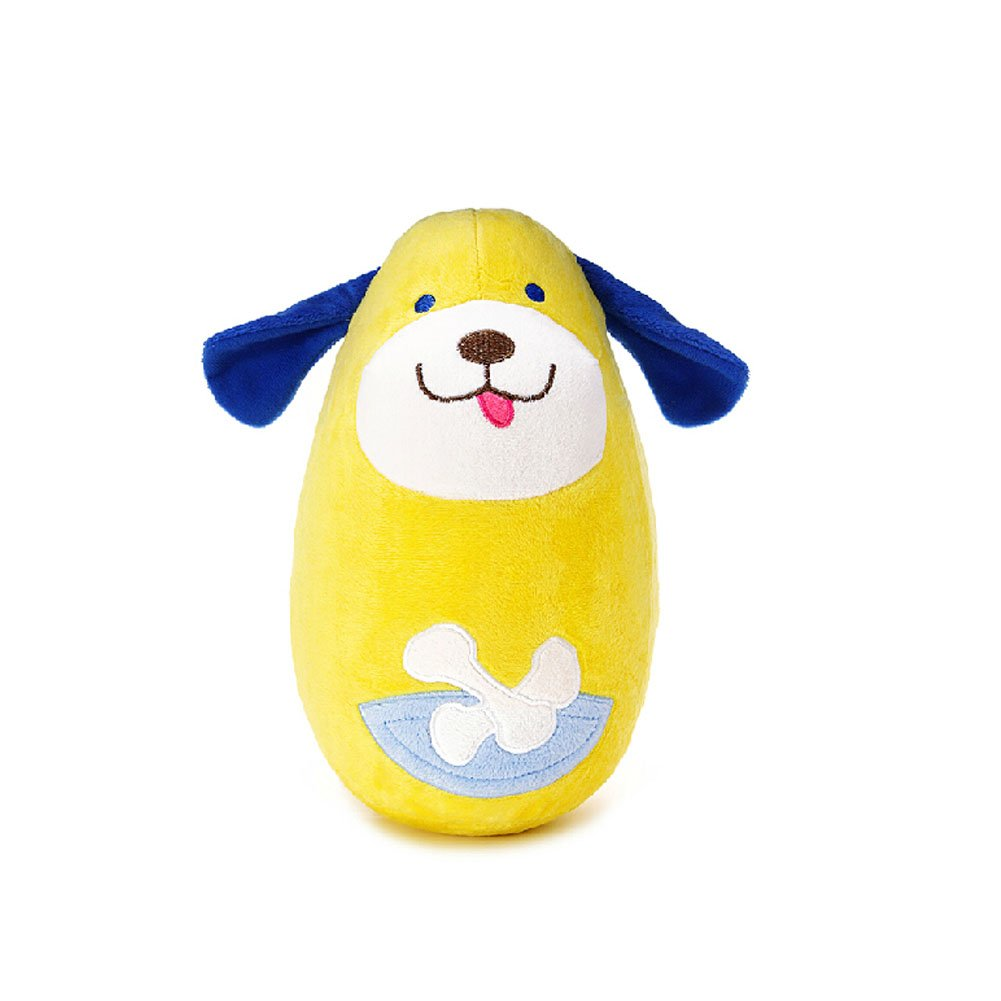 PANDA SUPERSTORE Lovely Dog Tumbler Roly Poly Toys Push and Pull Toys