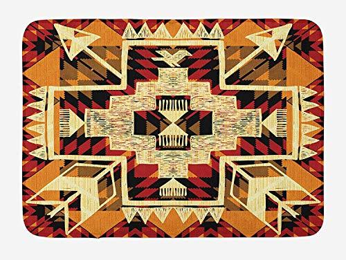 Aztec Trapper - Arrow Decorative Doormats Native American Inspired Retro Aztec Pattern Mod Graphic Design Boho Artwork Mud Trapper Waterproof Entrance Mats Low Profile Rug Carpet 23
