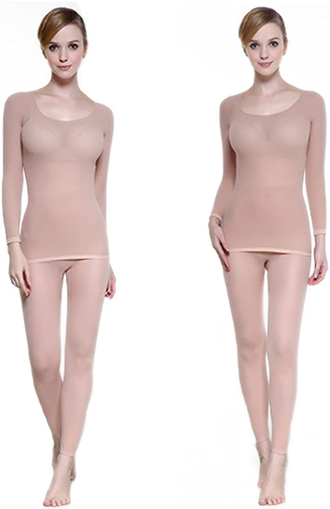 Lovexotic Womens Thermal Underwear Set,Scoop Neck Stretch Top /& Bottom Ultra Thin Base Layer Long Johns Set